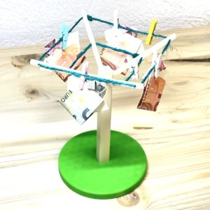 3D-Wäschespinne für Geldgeschenke