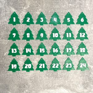 """3D-Adventskalender Zahlen """"Tannenbaum"""""""